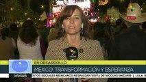 México: miles escuchan discurso de AMLO en el zócalo