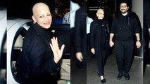 Sonali Bendre returns to India after Cancer Treatment, spotted at Mumbai airport; Watch | FilmiBeat