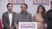 Pablo Iglesias y Alberto Garzón valoran el descalabro de Adelante Andalucía.