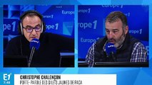 """Christophe Chalençon, porte-parole des """"gilets jaunes"""" : """"Nous demandons la démission du gouvernement actuel"""""""