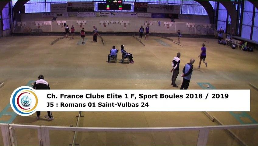 Troisième tour, tir rapide en double, France Club Elite 1 F, J5,  Romans contre Saint-Vulbas, saison 2018/2019