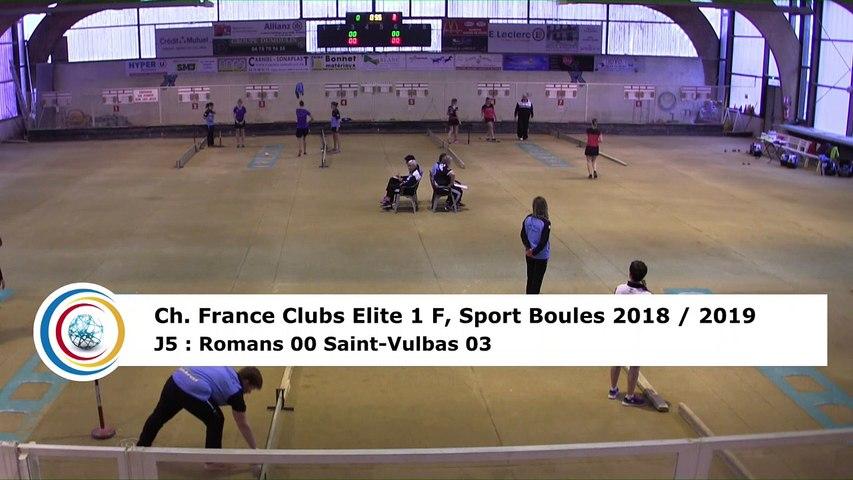 Premier tour, tir rapide en double, France Club Elite 1 F, J5,  Romans contre Saint-Vulbas, saison 2018/2019