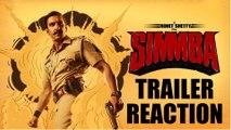 Simmba | Trailer Reaction | Ranveer Singh, Sara Ali Khan, Sonu Sood | Rohit Shetty |
