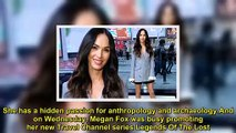 Megan Fox dazzles in a pinstripe blazer dress for Legends Of The Lost press day in NYC