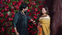Arjun Bijlani & Wife Attend Navina Bole's Reception Party - video