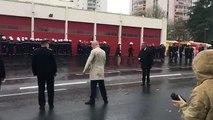 Ces pompiers ont tourné le dos aux élus et aux autorités lors d'une cérémonie officielle