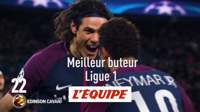 Edinson Cavani (Paris-SG) classé 22e - Foot - Ballon d'Or