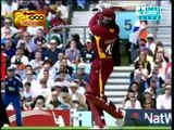 Chris Gayle Five Sixes against England 2nd ODI Video Highlights