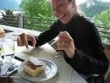 Eating Bled Cake - Lake Bled, Slovenia