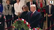 Trump Visits Capitol Rotunda To Pay Respects To George H. W. Bush