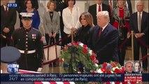 Donald Trump se recueille devant le cercueil de George H.W. Bush au Capitole