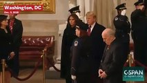 Donald Trump Pays Respects To George H.W. Bush
