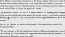 Kamala Harris Aide Resigns Over Harassment Allegations