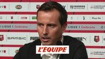 Stephan «Il va falloir être efficace tout de suite» - Foot - L1 - Rennes