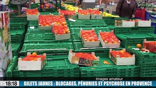 foto de Le 18:18 : pénurie d'essence rayons vides dans les supermarchés : la psychose s'installe en