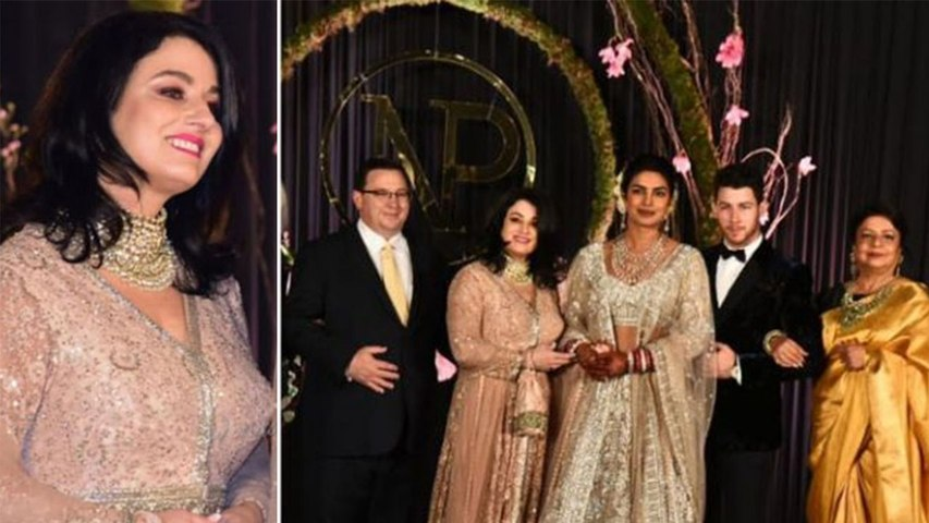 Priyanka Nick Reception: Nick's mother Denise Jonas steals limelight in Traditional Look  | Boldsky