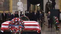 President Trump and First Lady Melania Trump Pay Respects To President George H. W. Bush