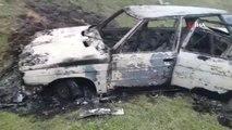 Malkara'da Bir Otomobil Küle Dönmüş Halde Bulundu