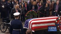 Bob Dole Rises From His Wheelchair To Salute George H.W. Bush