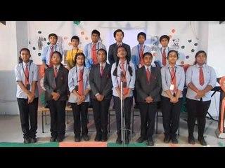 ALPINE PUBLIC SCHOOL Students Singing CHINMAYA RAO'S BHAARATAM VISHWANAAYAKAM Song