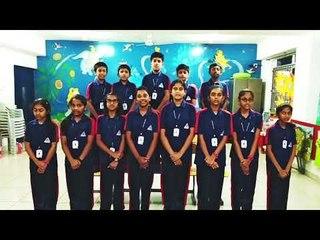 ALPINE PUBLIC SCHOOL STUDENTS SINGING INDIAN PATRIOTIC SONG MERA MULK MERA DESH