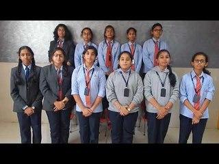 ALPINE PUBLIC SCHOOL STUDENTS SINGING SANSKRIT DAY SONG 2017-18