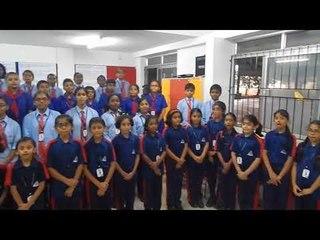 ALPINE PUBLIC SCHOOL STUDENTS  SINGING HINDI DAY SONG | MUSIC : CHINMAYA.M.RAO | LYRICS BY DINAMANI