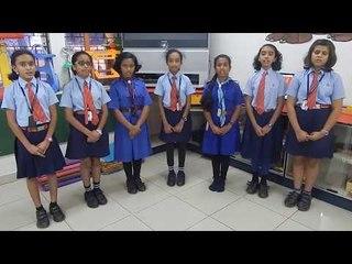 Alpine Public School Students Singing Kannada Mother Song Taaye Ninna Preetiya Baagina