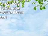 CAMAL Carpets Washable Velvet Carpet Rug for Living Room and Bedroom 120cmX160cm Green