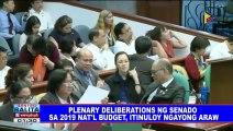 Plenary deliberations ng Senado sa 2019 national budget, itinuloy ngayong araw