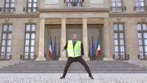 #GiletsJaunes Emmanuel Macron danse devant l'Elysée