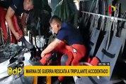 Chimbote: Marina de Guerra realiza exitoso rescate de tripulante accidentado en alta mar