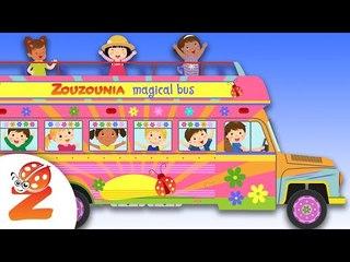 Τhe Wheels on the Bus  Around the World  Nursery Rhymes & Baby Songs | #Zouzounia TV