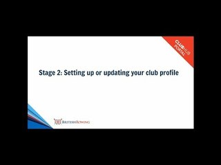 British Rowing ClubHub Portal - Stage 2