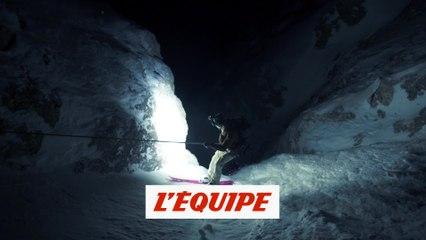 une magnifique sortie nocturne dans les couloirs des Dolomites - Adrénaline - Ski freeride