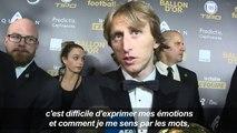 Modric fier et heureux de son Ballon d'Or