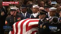 George H.W. Bush's Casket Moves Down The Aisle At State Funeral