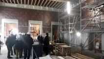La salle des fêtes de la Mairie de La Rochelle en cours de rénovation