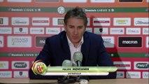 Réaction de Philippe Montanier et Jean-Marc Furlan après RC Lens - Stade Brestois 29