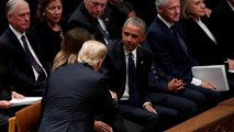 Watch: Trump snubs Clintons at George H.W. Bush funeral