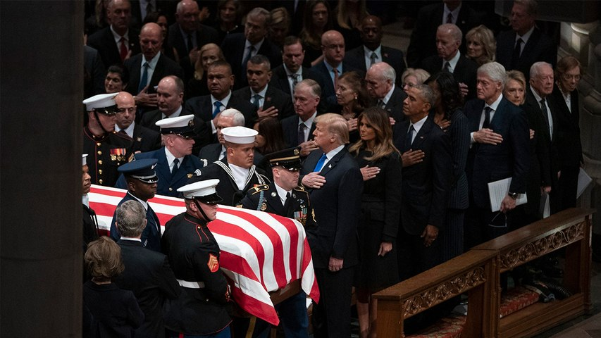 Leaders gather to bid their last farewell to George HW Bush | OneIndia News