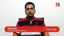 Job placement after CCNA, CCNP, CCIE R&S certification training - Devesh Review