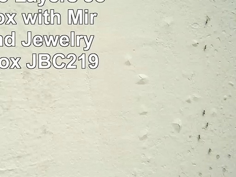 Songmics 3 Layers Jewellery Box with Mirror Highend Jewelry Storage Box JBC219