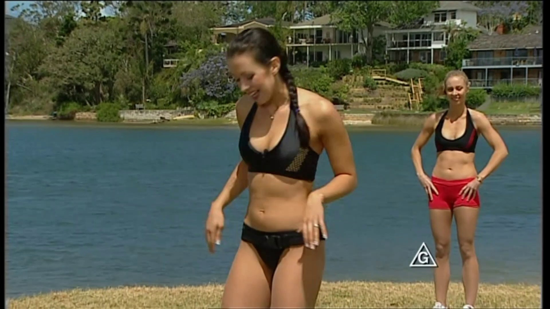 Aerobics Oz Style Series 14A Kick Boxing Exercise Routines Taryn Noble Leads Mia Baker Kelly Russell