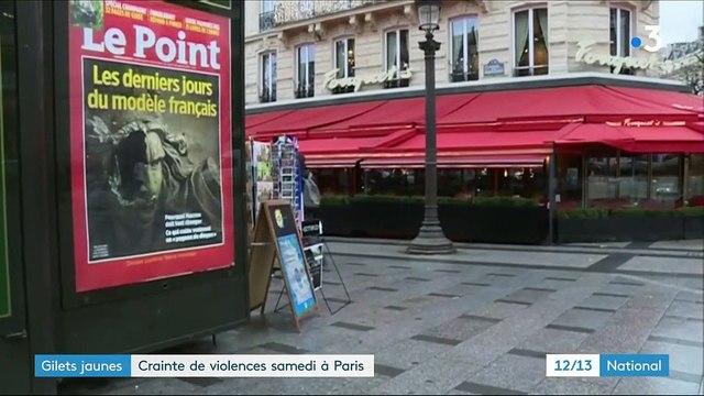 """""""Gilets jaunes"""" : crainte de violences samedi 8 décembre à Paris"""