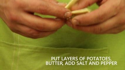 Short - Potato gratin with pine nut crust