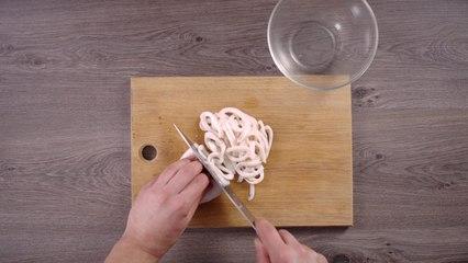 Squid with garlic sauce