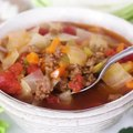 Chunky Beef, Cabbage and Tomato Soup (Instant Pot or Stove Top)