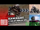Kawasaki Ninja 125 et Kawasaki Z 125 2019 - essai Moto Magazine