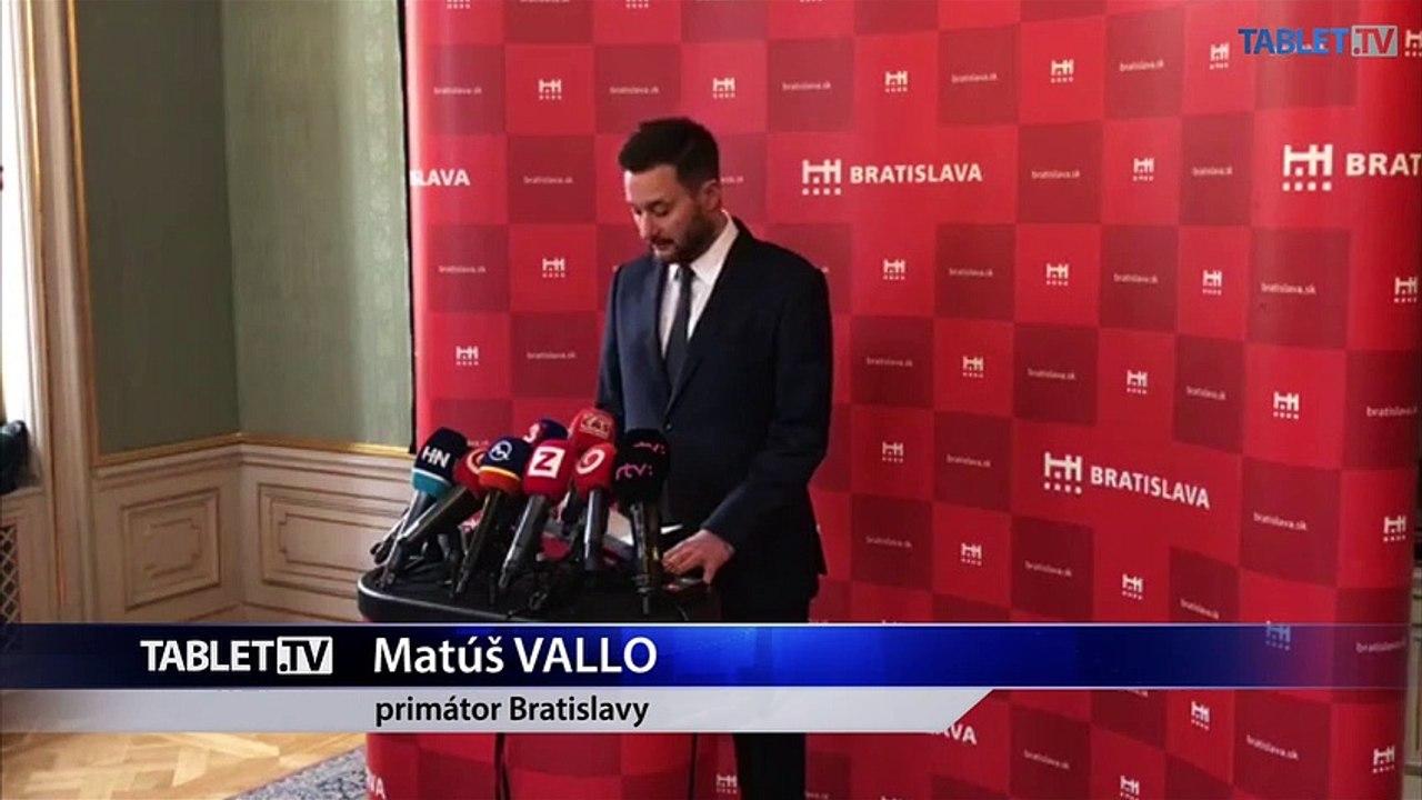 ZÁZNAM: Brífing primátora Bratislavy M. Valla